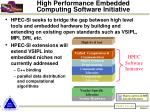 high performance embedded computing software initiative