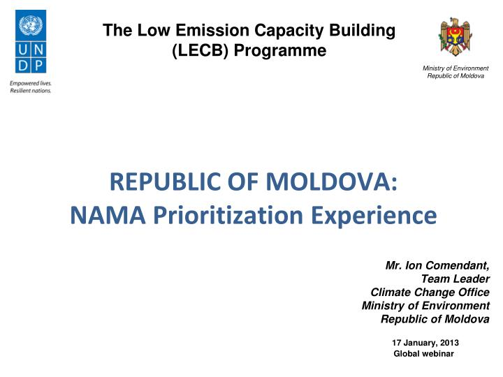 The Low Emission Capacity Building