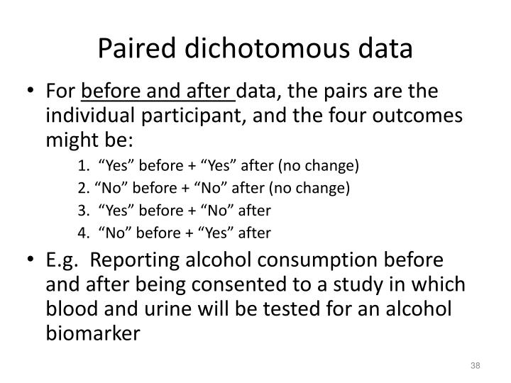 Paired dichotomous data