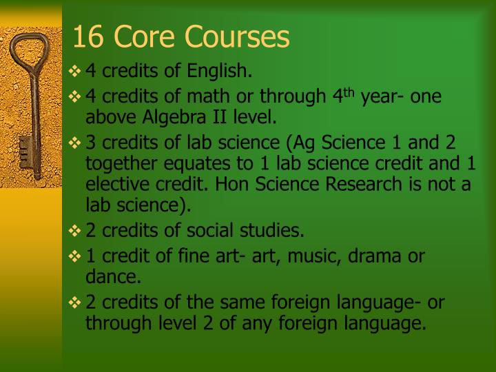 16 Core Courses