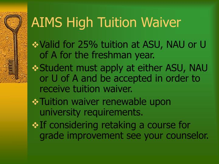 AIMS High Tuition Waiver