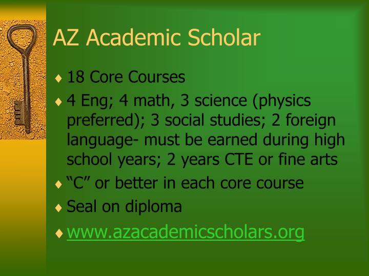 AZ Academic Scholar