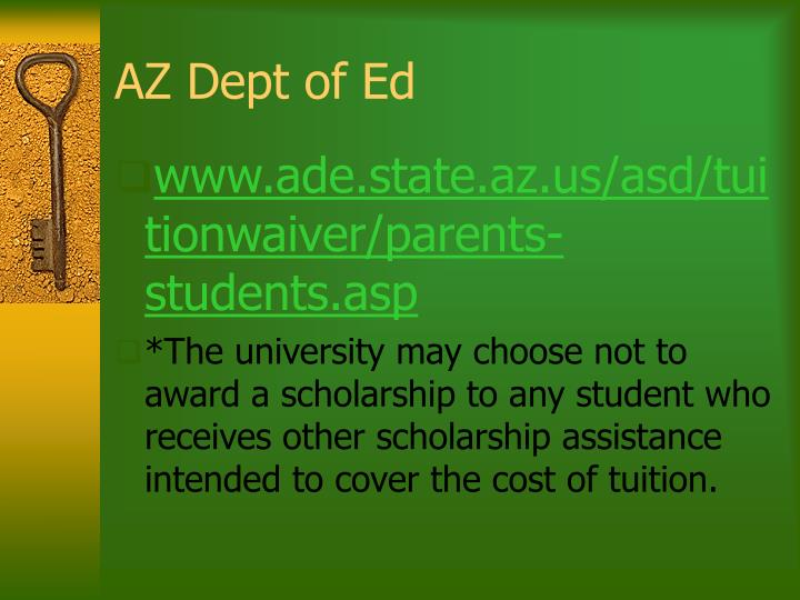 AZ Dept of Ed