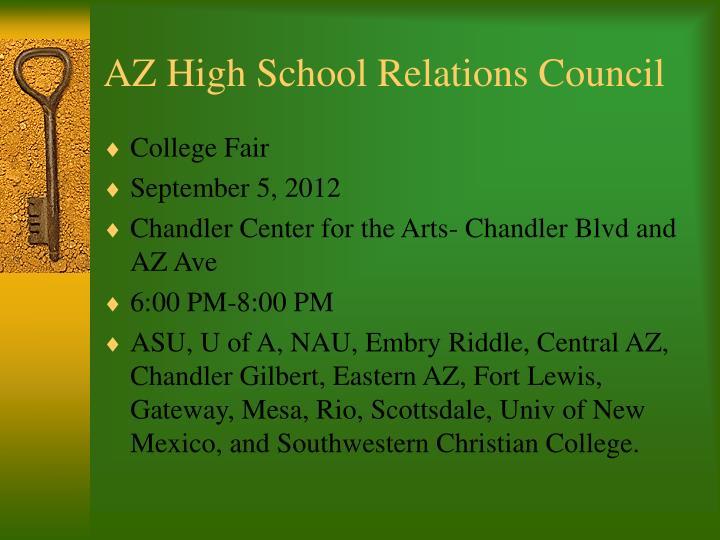 AZ High School Relations Council