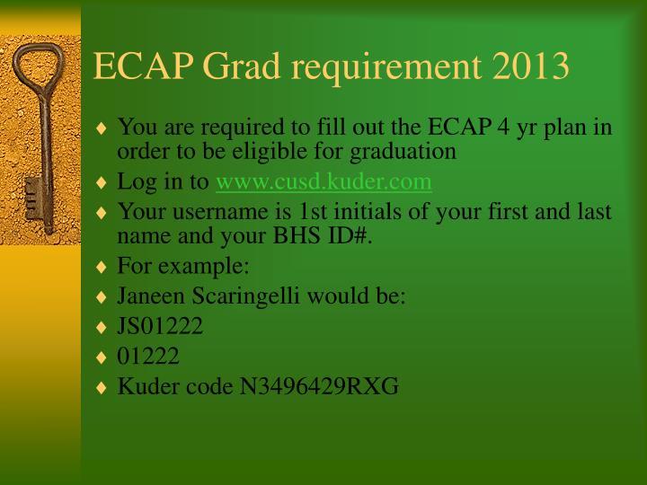 ECAP Grad requirement 2013
