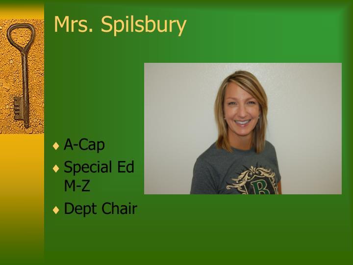 Mrs. Spilsbury