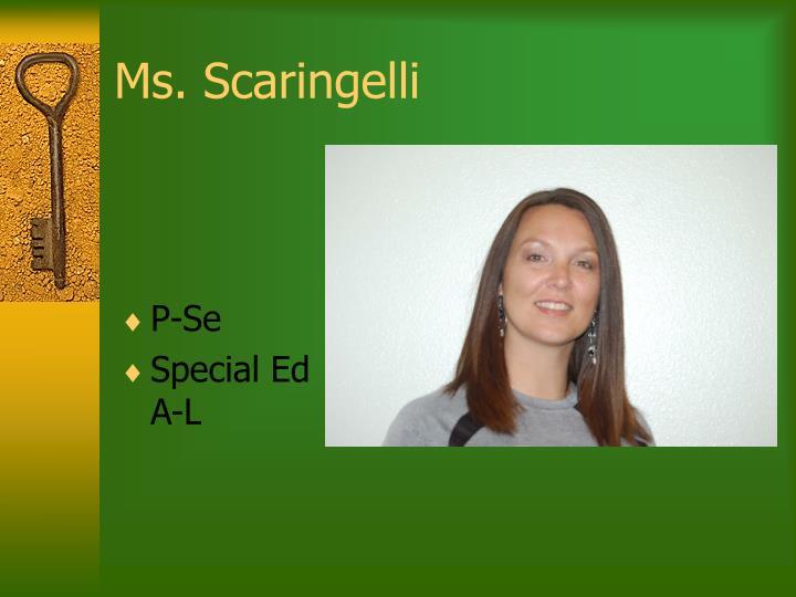 Ms. Scaringelli