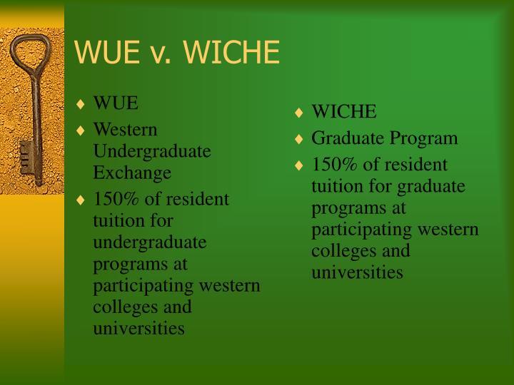 WUE v. WICHE