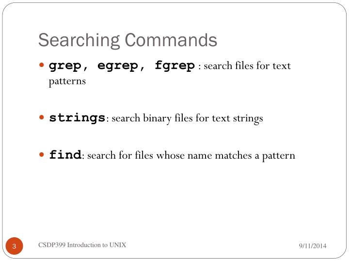Searching Commands