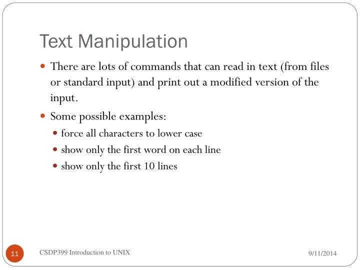 Text Manipulation