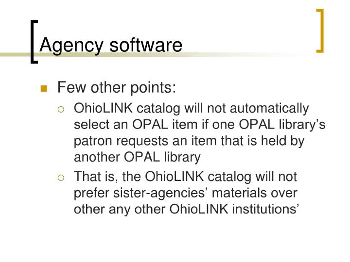 Agency software