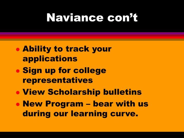 Naviance con't