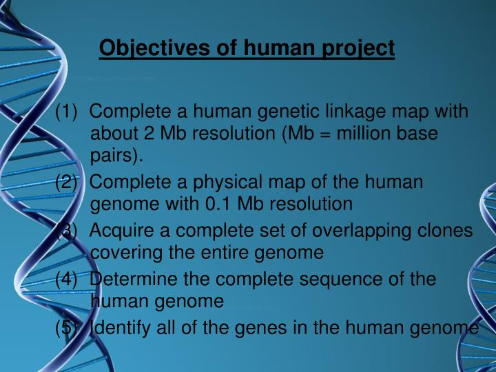 Objectives of human project