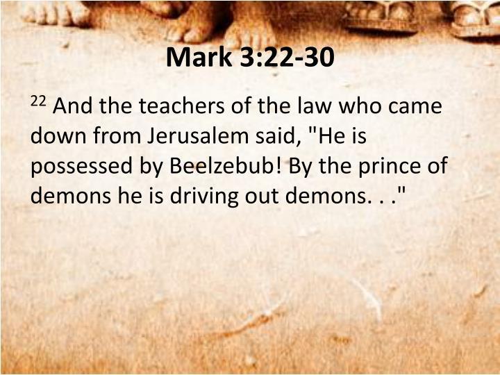 Mark 3:22-30
