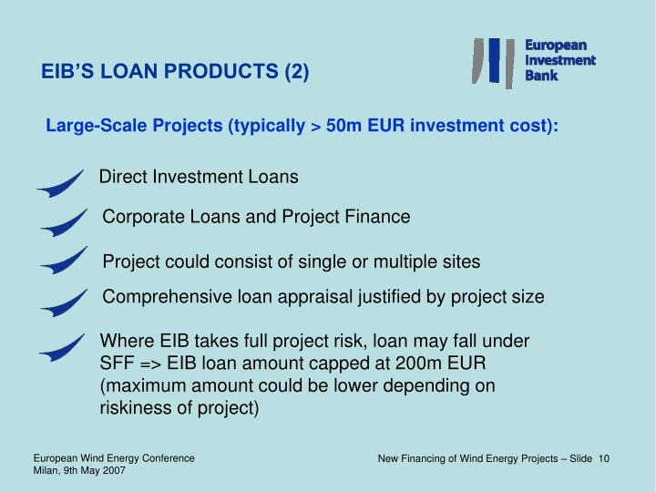 EIB'S LOAN PRODUCTS (2)