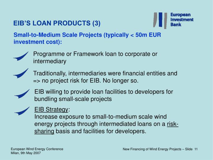 EIB'S LOAN PRODUCTS (3)