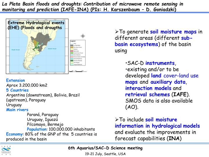 La Plata Basin floods and droughts
