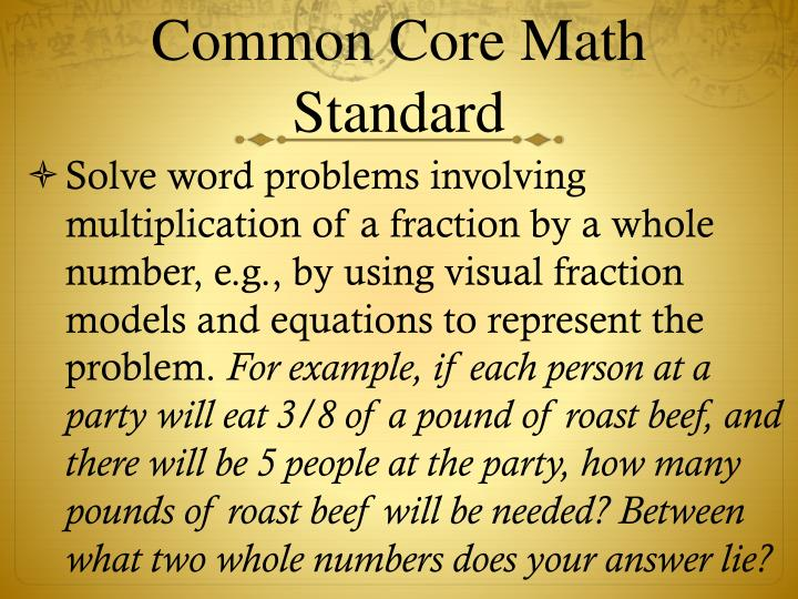 Common Core Math Standard