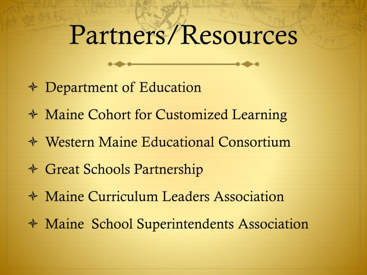 Partners/Resources
