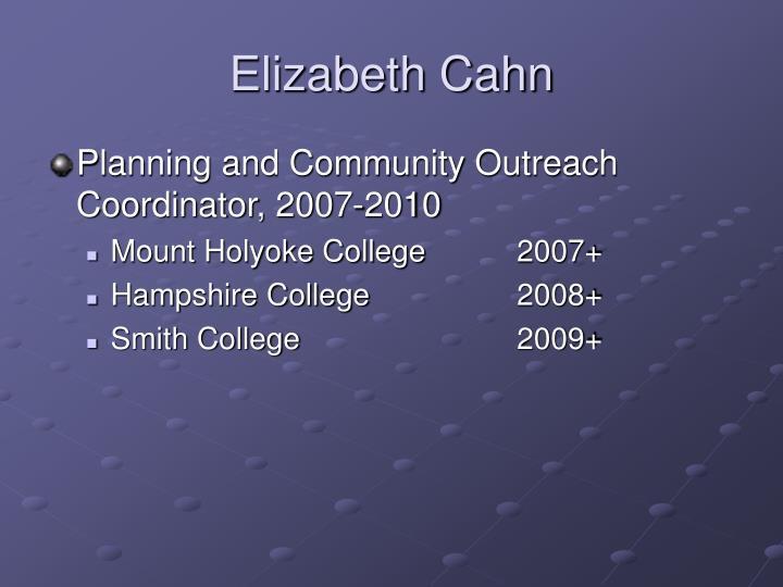 Elizabeth Cahn