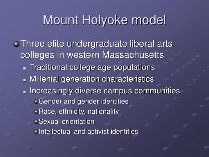Mount Holyoke model