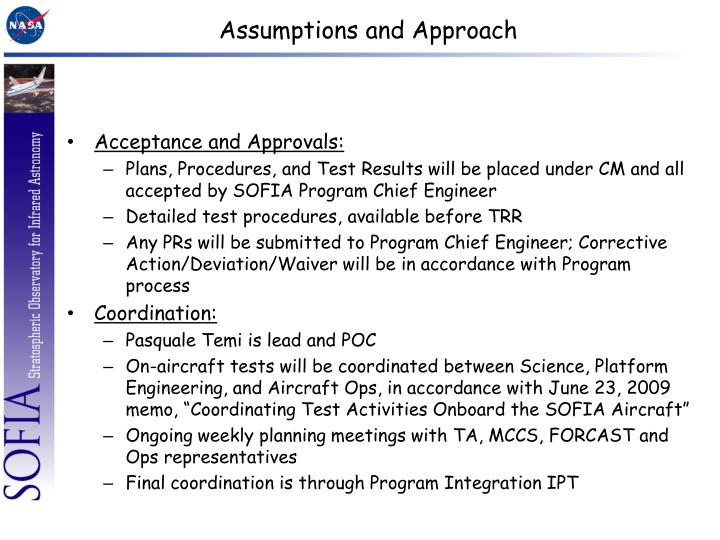 Assumptions and Approach