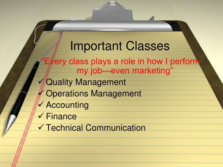 Important Classes