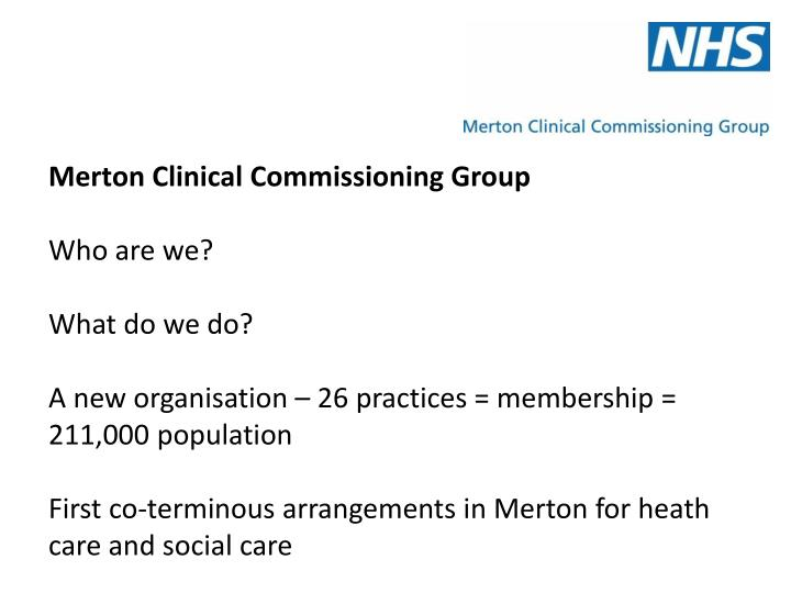 Merton Clinical Commissioning Group