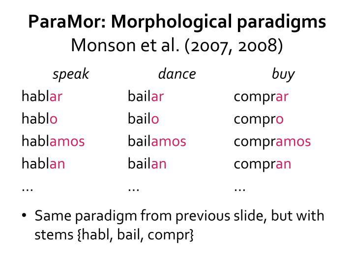 ParaMor