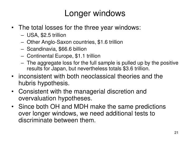 Longer windows