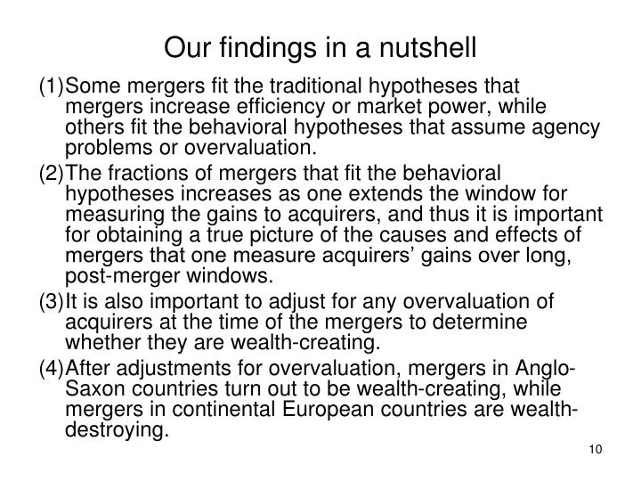 Our findings in a nutshell