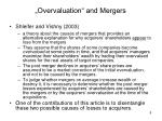 overvaluation and mergers