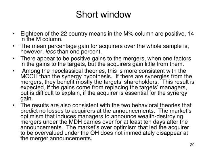 Short window