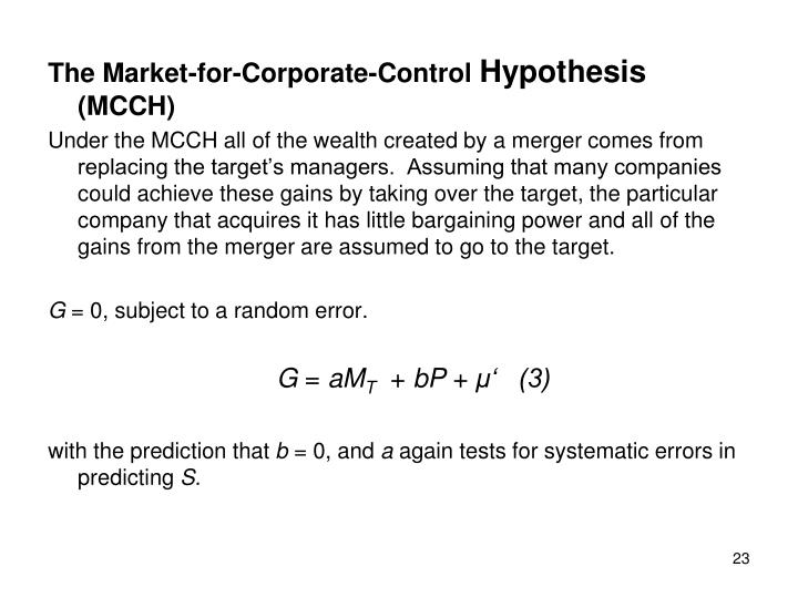 The Market-for-Corporate-Control