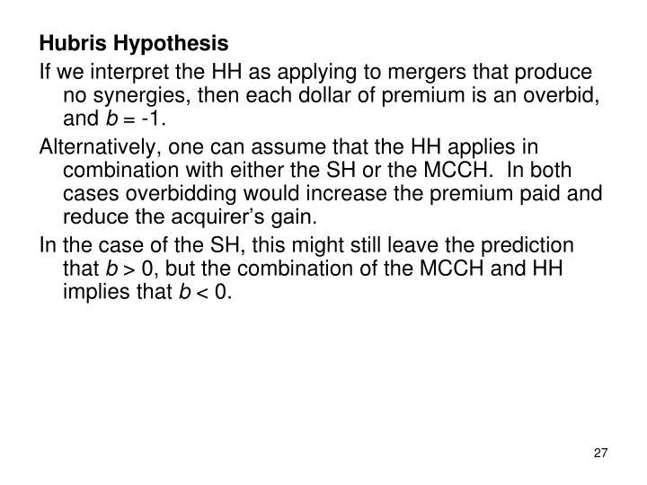 Hubris Hypothesis