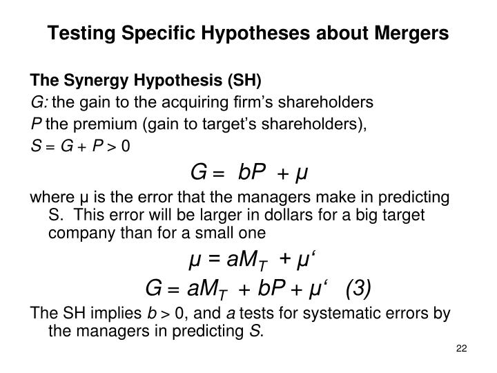 Testing Specific Hypotheses about Mergers