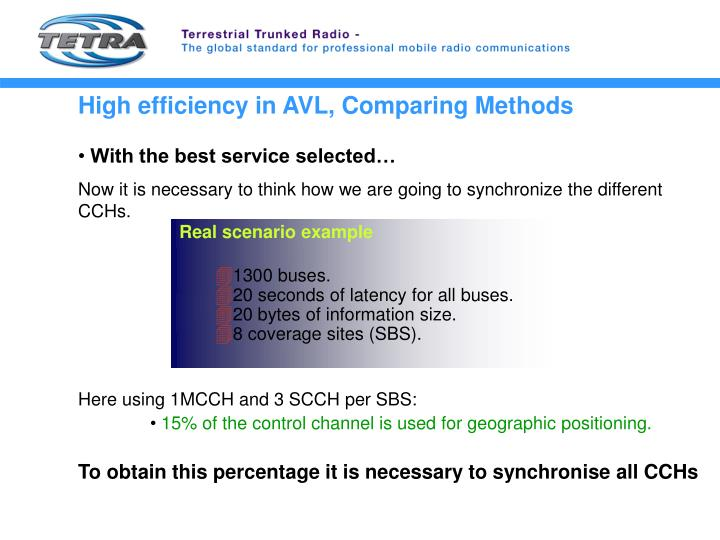 High efficiency in AVL, Comparing Methods