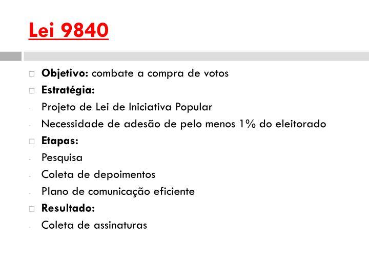 Lei 9840