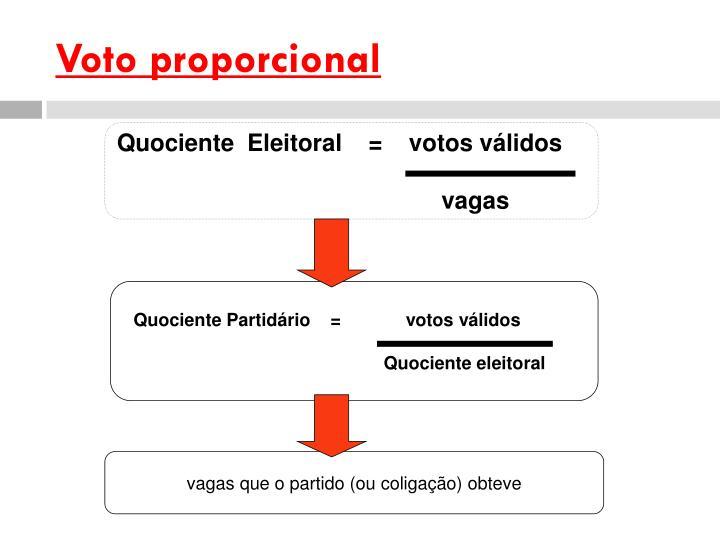 Voto proporcional