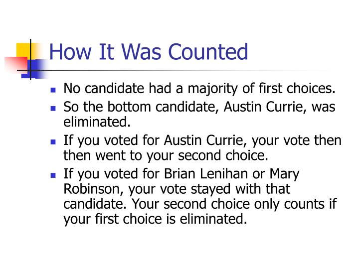 How It Was Counted