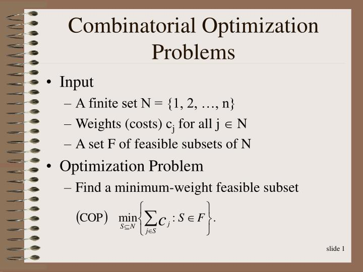 Combinatorial optimization problems
