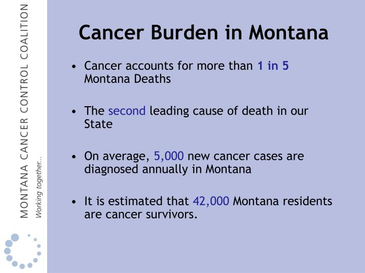 Cancer burden in montana