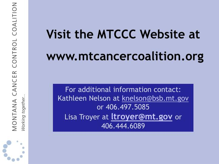 Visit the MTCCC Website at