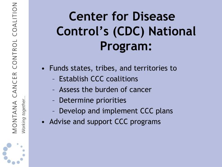 Center for Disease Control's (CDC) National Program: