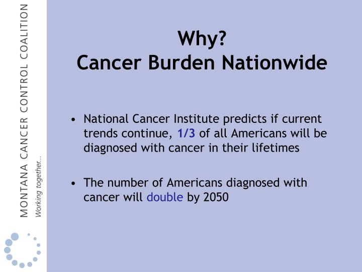 Why cancer burden nationwide