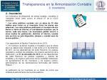 transparencia en la armonizaci n contable 2 inventarios