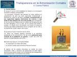 transparencia en la armonizaci n contable 4 cuenta p blica