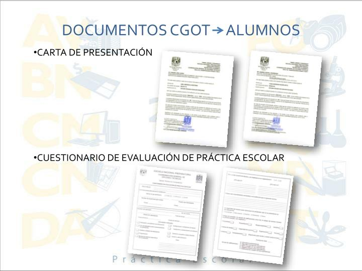 DOCUMENTOS CGOT     ALUMNOS
