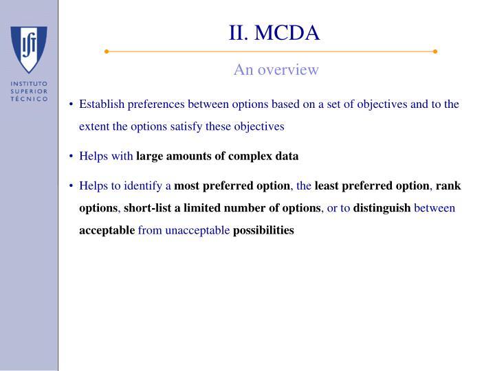 II. MCDA
