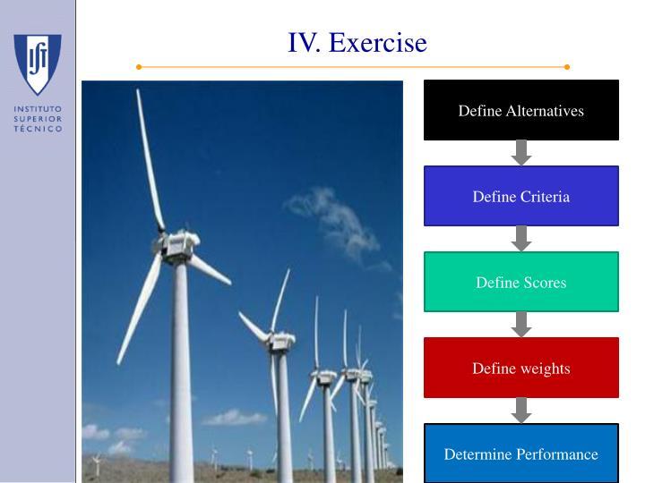 IV. Exercise